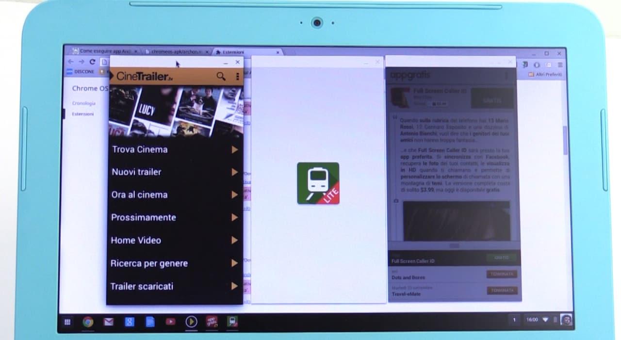 App Android su Chrome Desktop