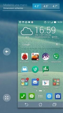 Screenshot ASUS Zenfone 6 Modalità una mano