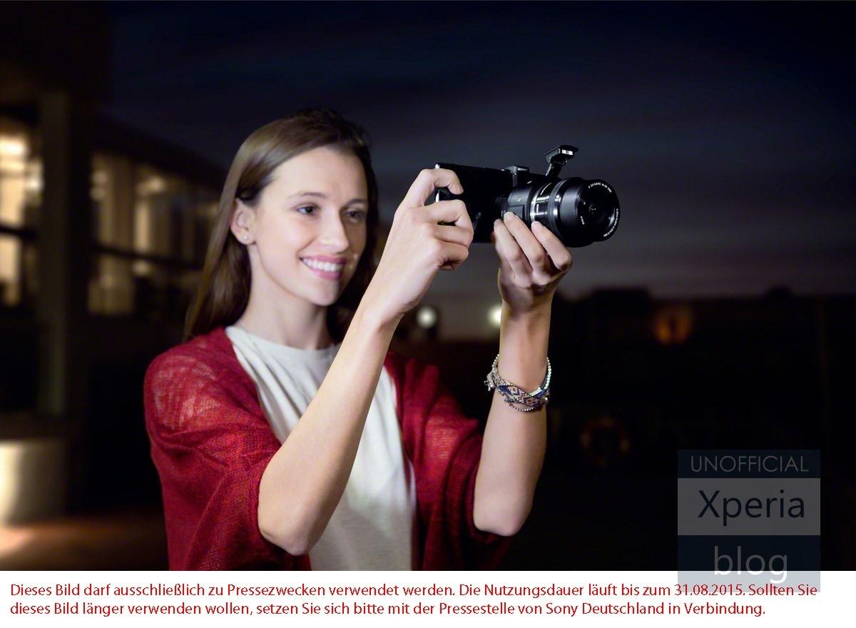 Sony QX1 flash