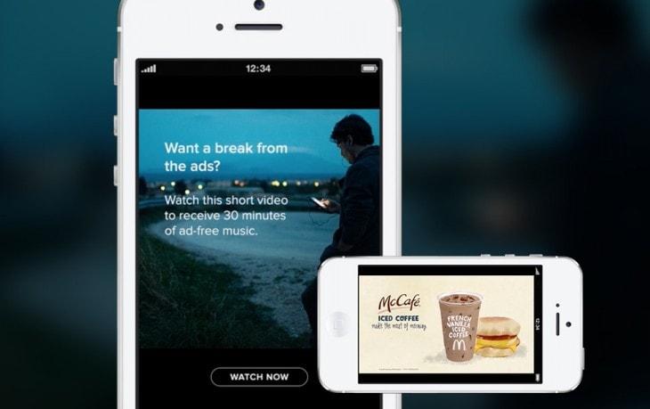 """Spotify introduce i video ads: brevi video pubblicitari per 30 minuti di musica """"ad-free"""""""