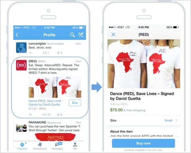 Twitter pulsante buy