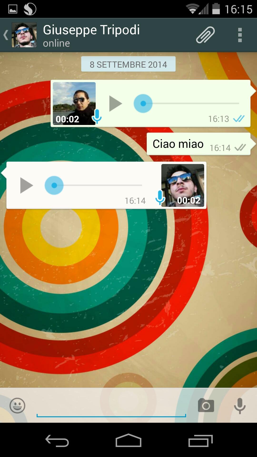 Whatsapp audio ascoltato 2