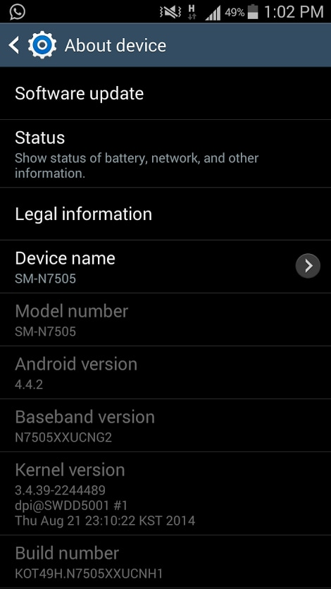 Samsung Galaxy Note 3 Neo LTE riceve Android KitKat