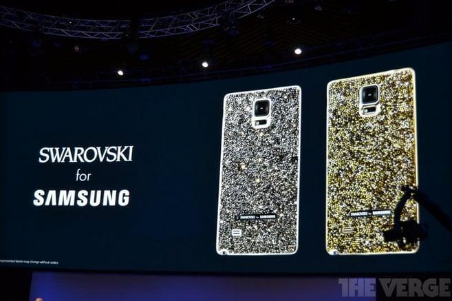 Ecco gli accessori per Galaxy Note 4: back cover Swarovski, pennino Montblanc e altro (foto)