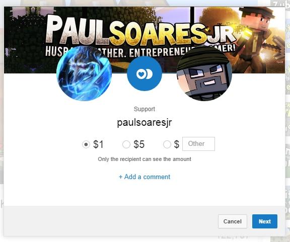 youtube donazione