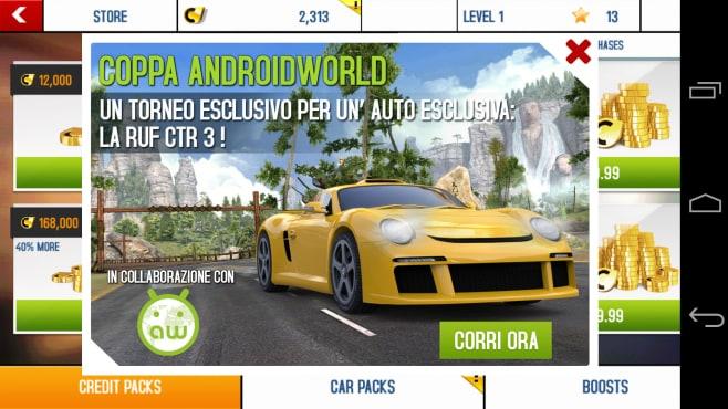 Ecco la Coppa AndroidWorld in Asphalt 8!