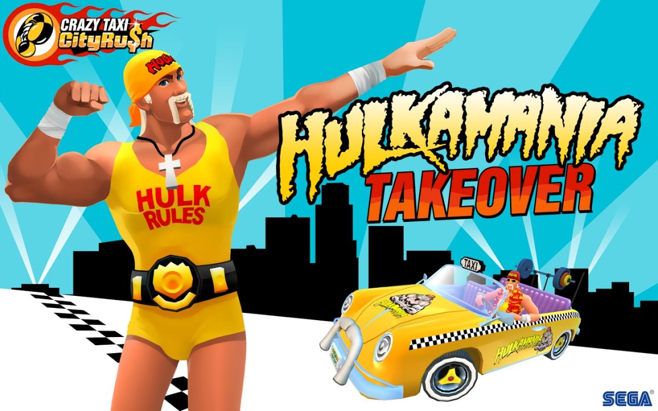 Hulk Hogan è il protagonista del nuovo aggiornamento di Crazy Taxi City Rush (foto e video)