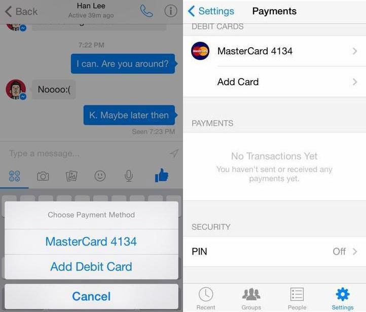 Facebook Messenger ci lascerà inviare denaro agli amici (video)