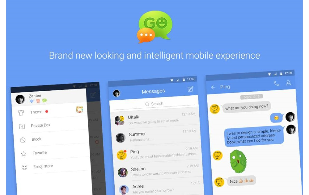 Go SMS material