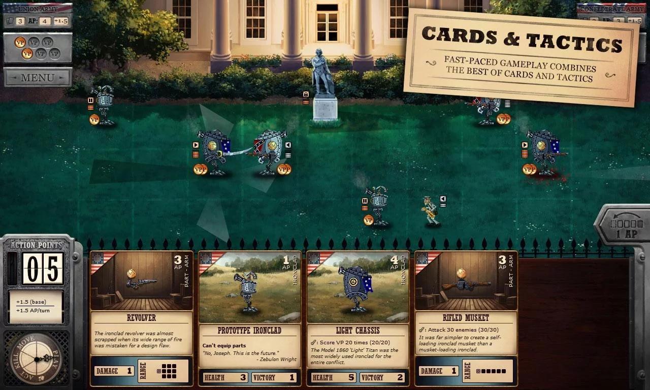 Ironclad Tactics: strategico e card game ambientato durante una Guerra Civile Steampunk (foto e video)