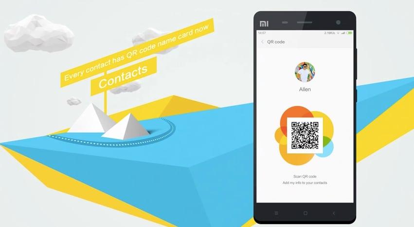 MIUI Contact codice QR