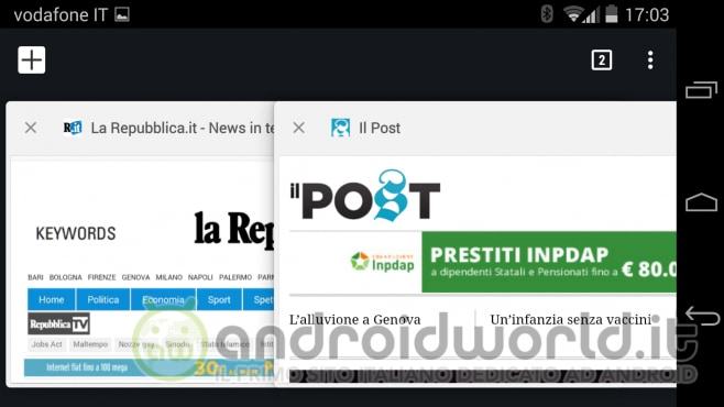 Moto X 2014 screenshot Chrome