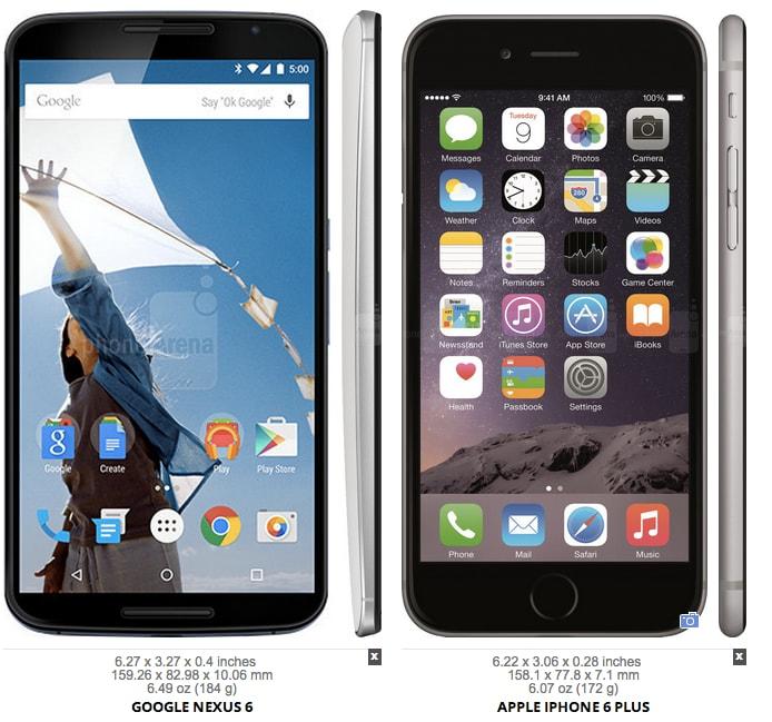 Nexus 6 confronto dimensionale -3