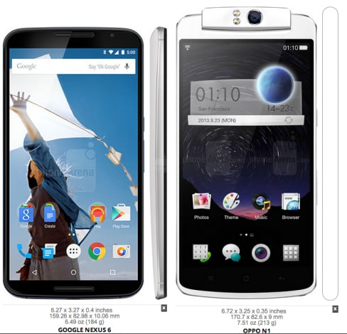 Nexus 6 confronto dimensionale -8