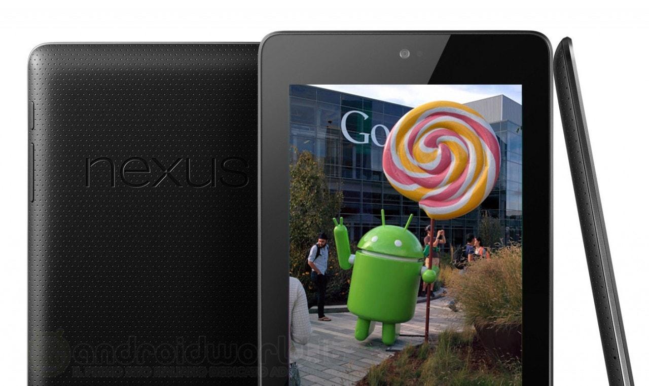 Anche il Nexus 7 2012 riceverà l'aggiornamento ad Android 5.0 Lollipop