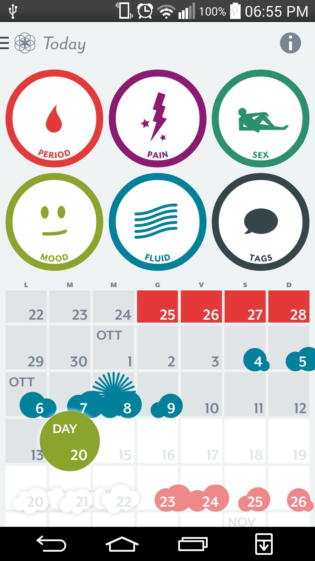 Calendario Del Ciclo Mestruale.Un Calendario Per Controllare Il Ciclo Mestruale Con L App