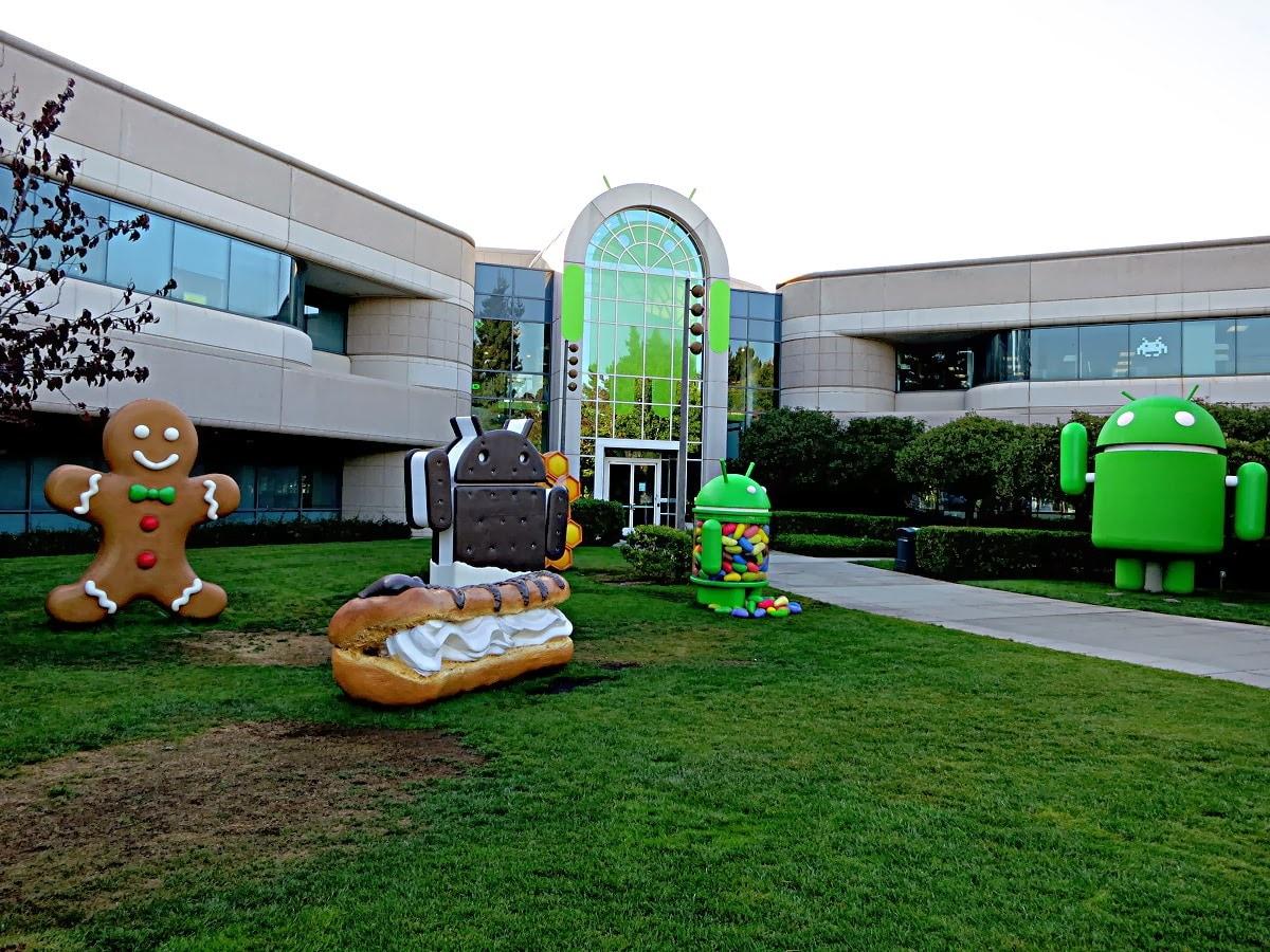 googleplex android statue