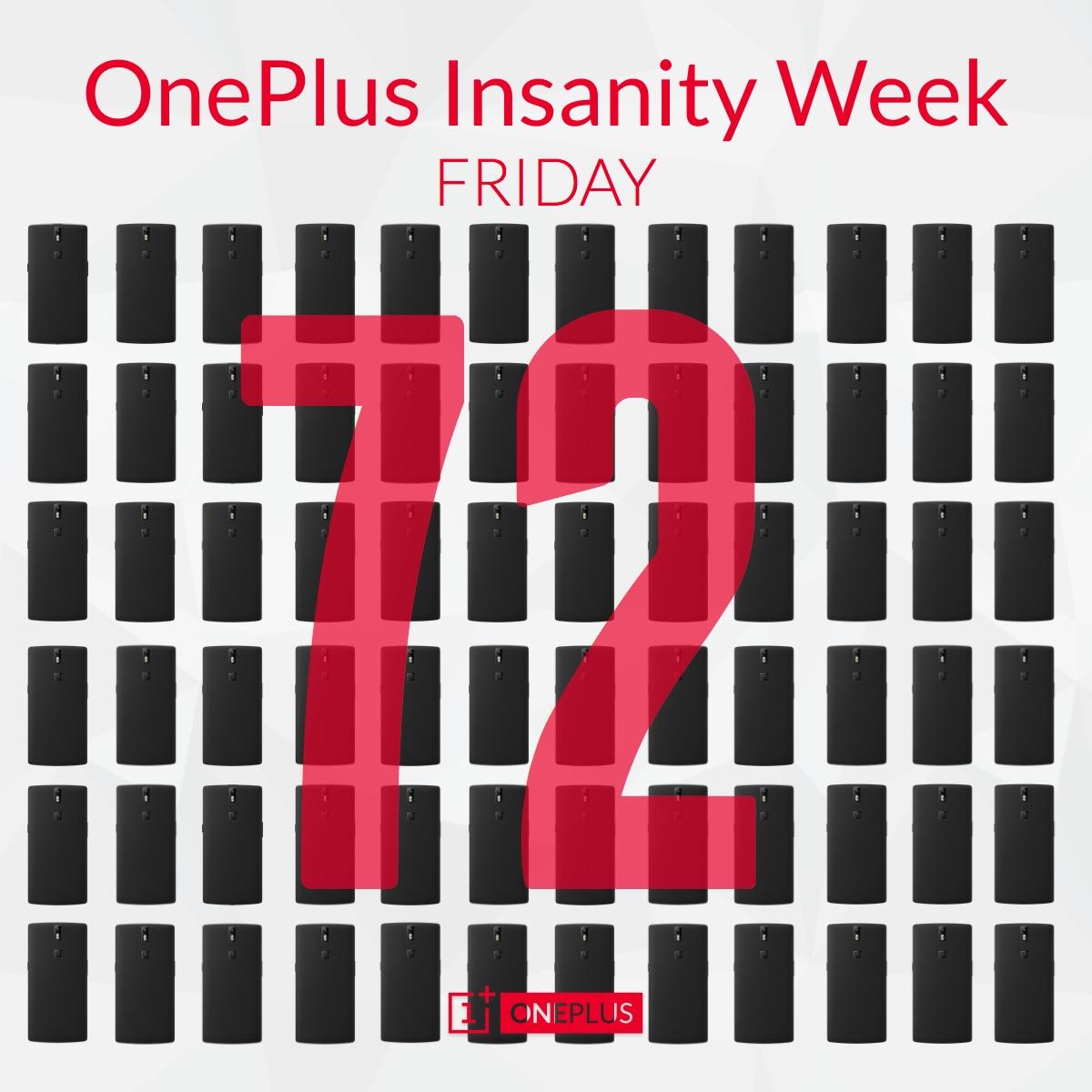 OnePlus Insanity Week giorno 5, in regalo ben 72 OnePlus One: ecco come partecipare!