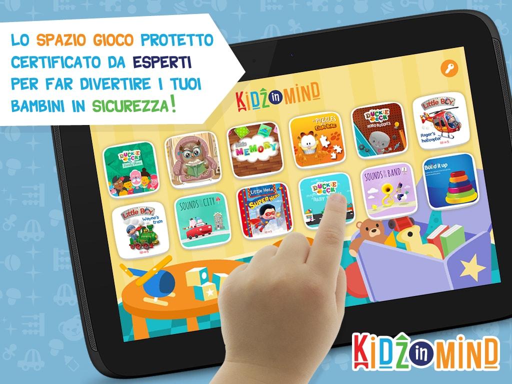 kidzinmid_app android per bambini