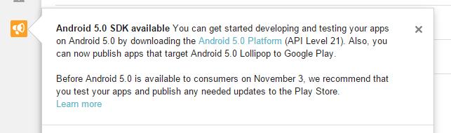 lettera lancio lollipop sviluppatori