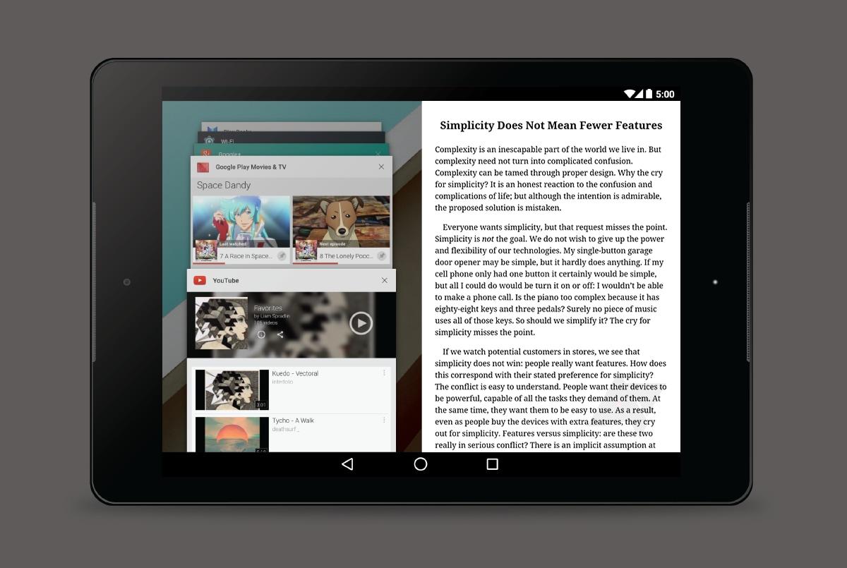 """""""Multiwindows"""" nuovamente citato nei sorgenti Android"""
