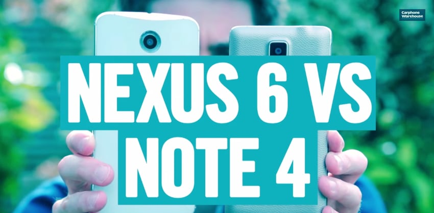 nexus 6 vs note 4