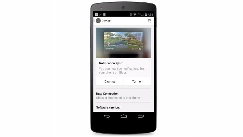 Tutte le notifiche di Android arrivano ora anche sui Google Glass