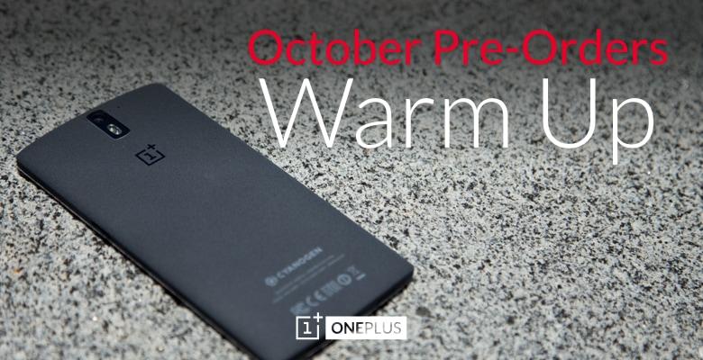 oneplus one warm up