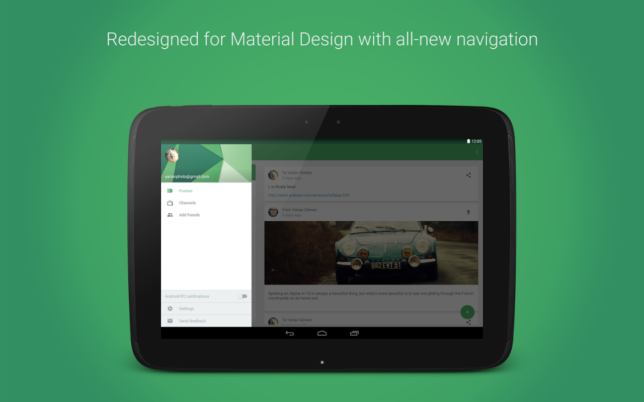 pushbullet material design 2
