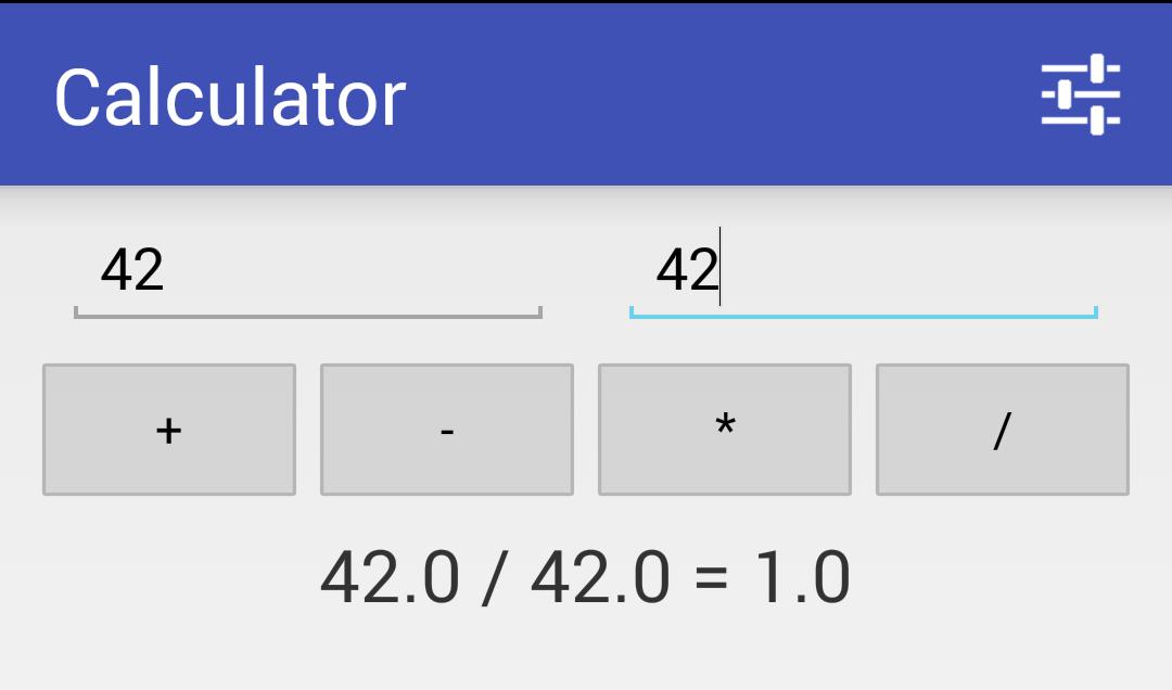 simple calculator head