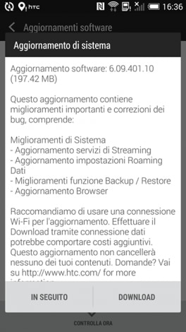 update HTC ONE