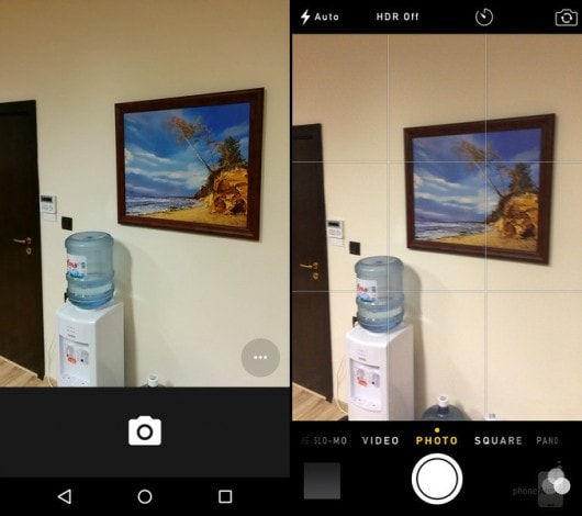 Android 5.0 vs iOS 8 fotocamera 1