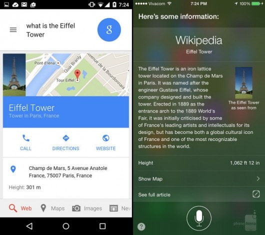 Android 5.0 vs iOS 8 ricerca vocale 1