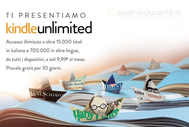 Amazon Kindle Unlimited: gratis per 30 giorni più di 15.000 libri in italiano