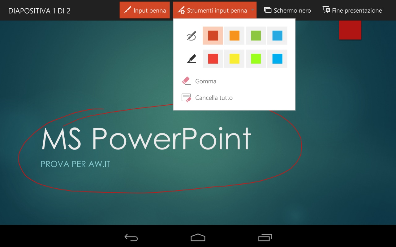 MS PowerPoint per Android 5
