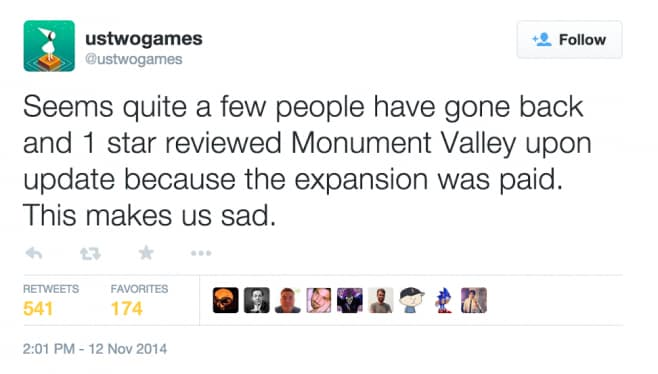Monument Valley Tweet dell'infamia