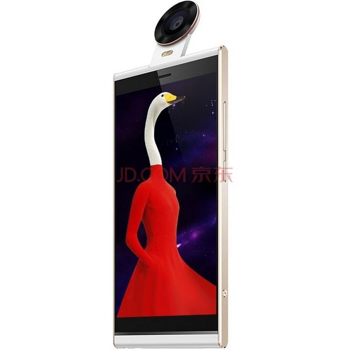 Fotocamera a 180° e design bizzarro per un nuovo smartphone cinese (foto)