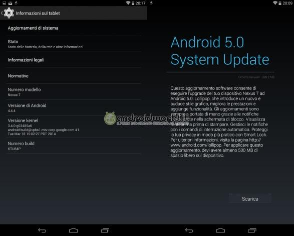 OTA Nexus 7 2013