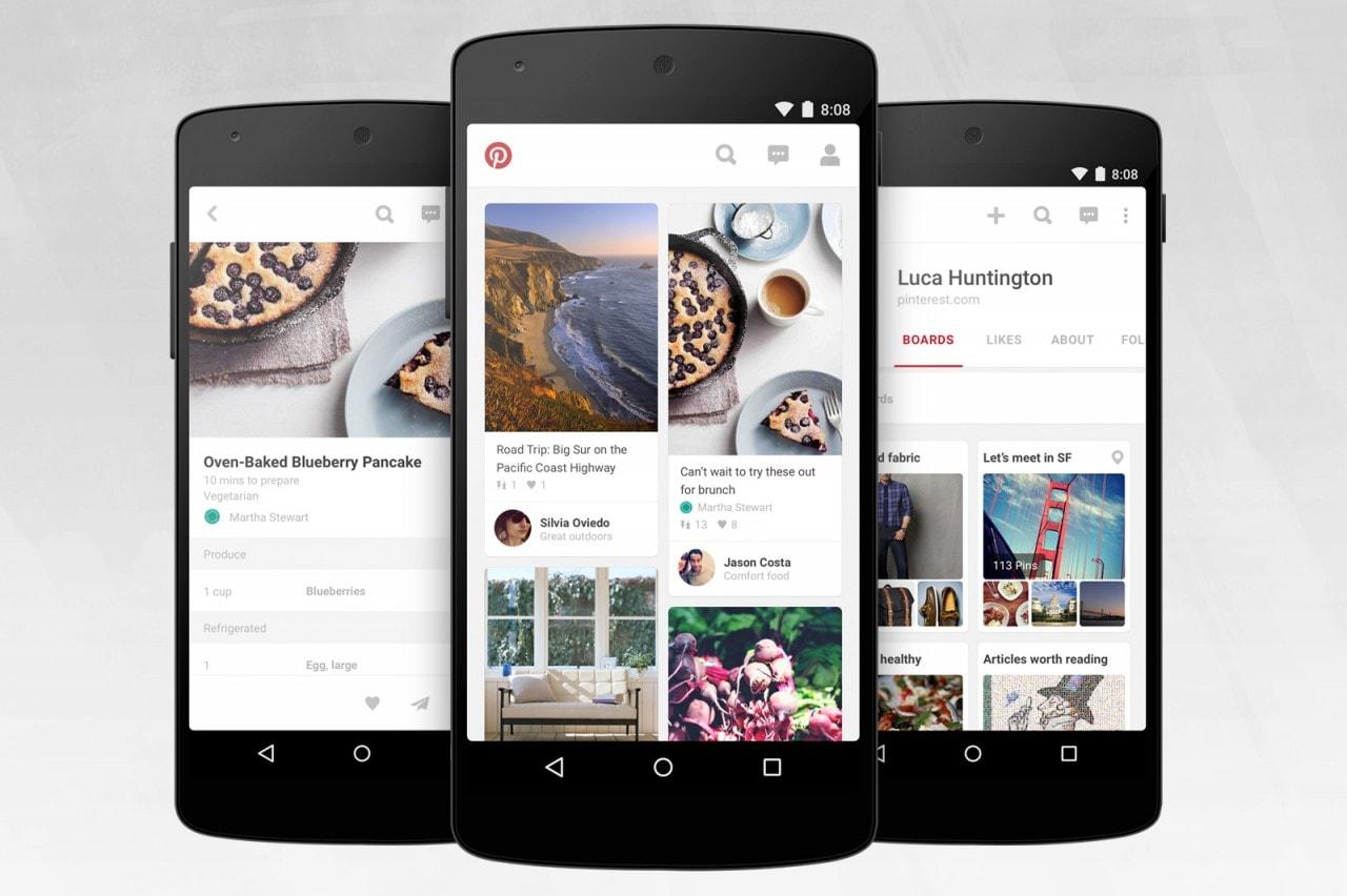 Pinterest annuncia una nuova veste grafica per la propria app