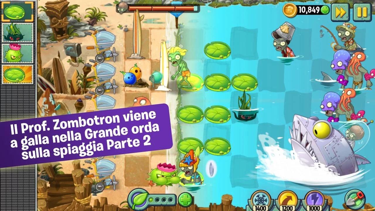 """Disponibile la seconda parte de """"La Grande orda sulla spiaggia"""" di Plants vs. Zombies 2"""