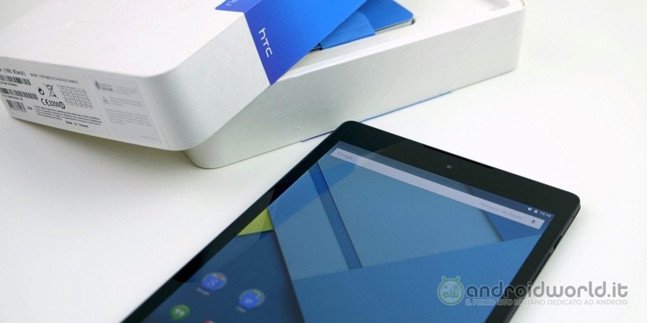 Recensione HTC Nexus 9 2