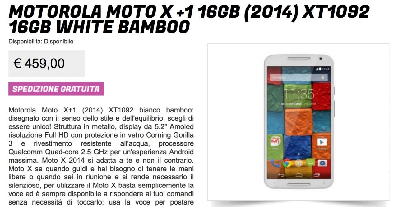 Moto X 2014 offerta GliStockisti