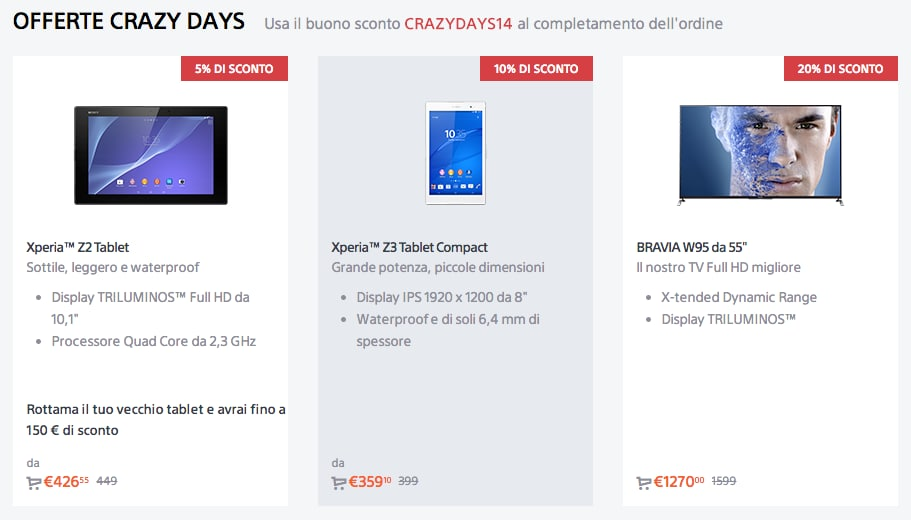 Xperia Z3 Compact black friday