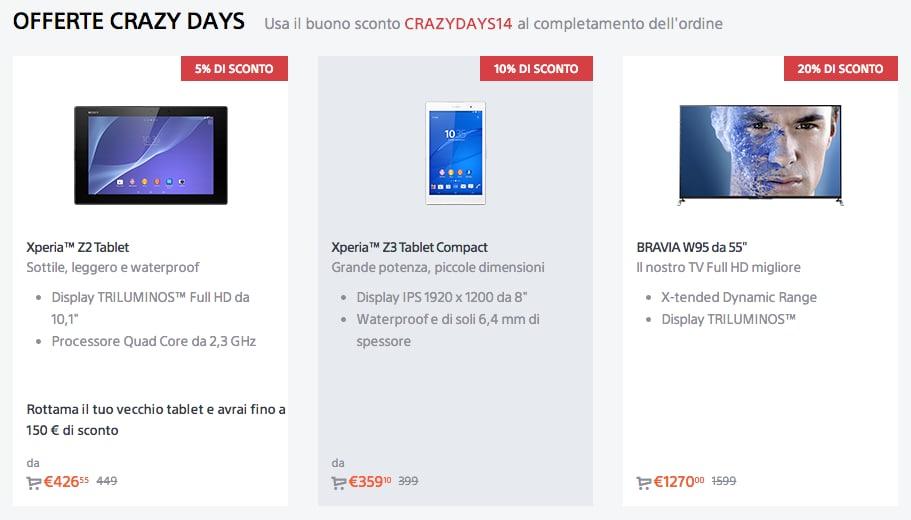 Sony sconta il suo Xperia Z3 Tablet per il suo black friday