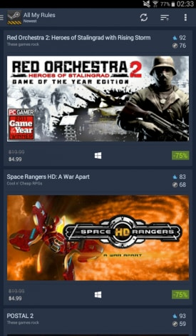 Steam Sales Android (1)