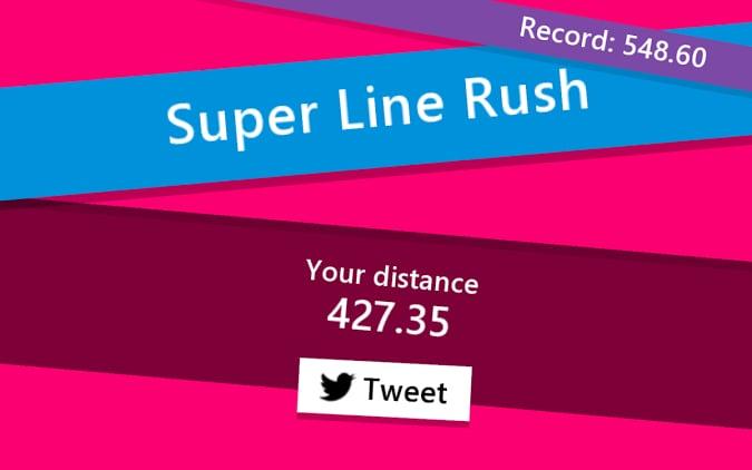 Super Line Rush Title - Mini