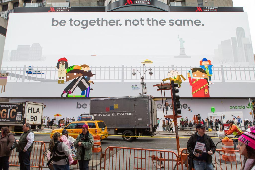 Ecco l'enorme tabellone di Google in Times Square (foto e video)