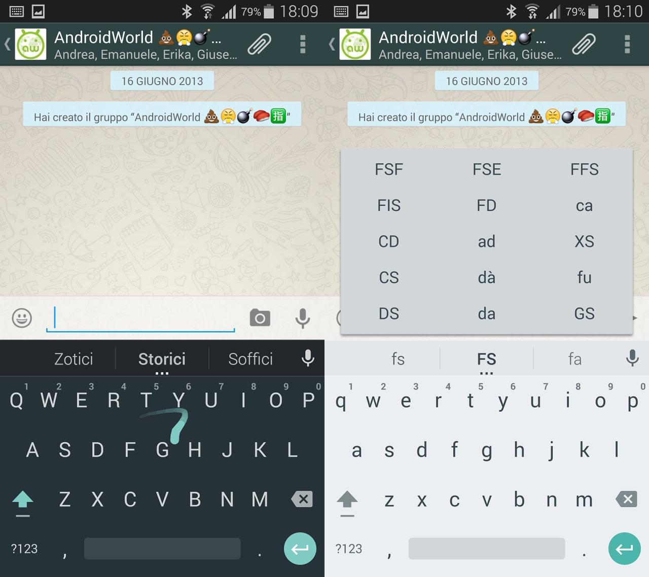 Tastiera Google Material