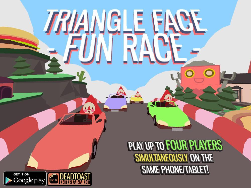 Triangle Face Fun Race
