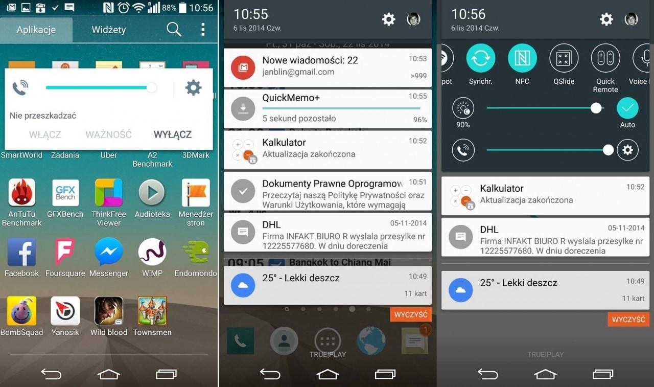 Nuovi screenshot di LG G3 mostrano Android 5.0 Lollipop (foto)